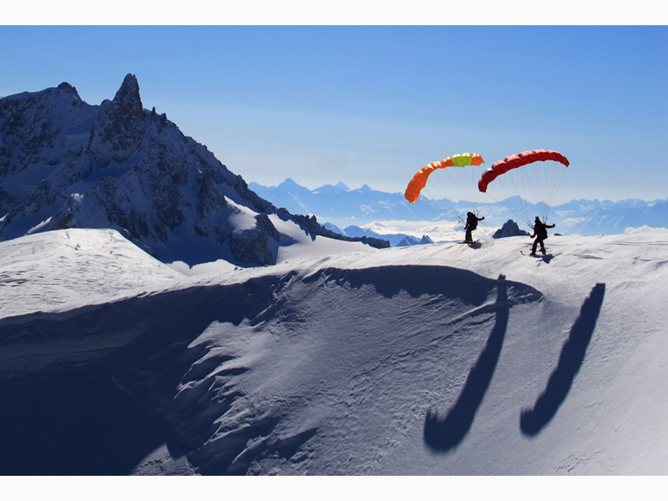 Combine Skiing with Paragliding
