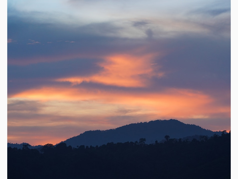 Sunset over Chiang Rai