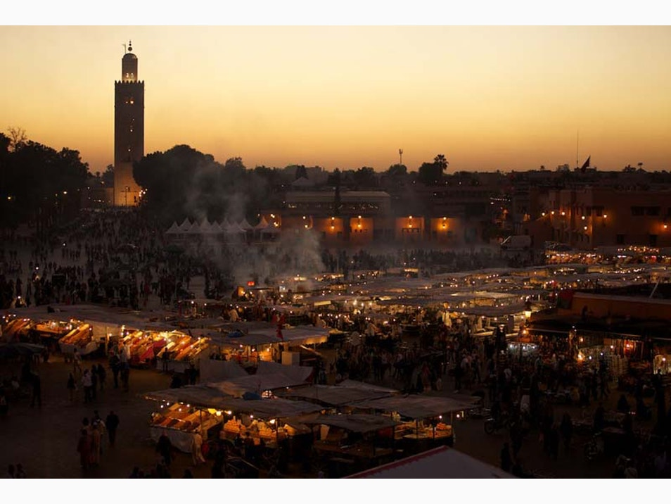 The Djemaa el Fna at Night