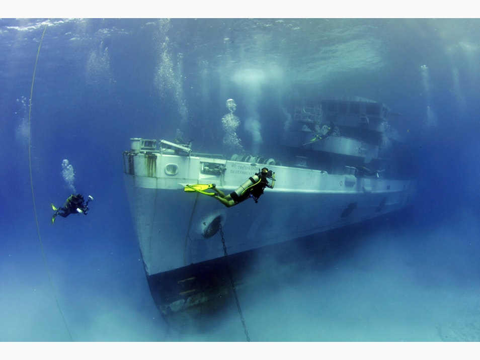 Snorkel or Dive the USS Kittiwake